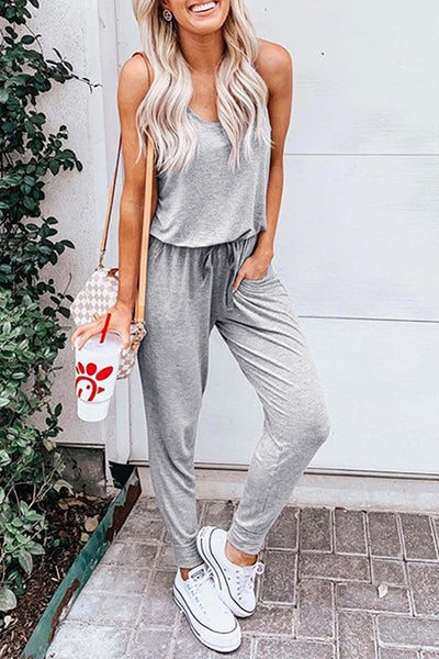 Dimpdress Sleeveless Strappy Jumpsuit