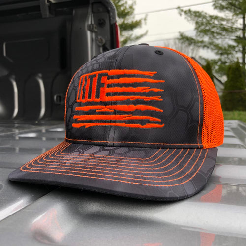 Hat - RTF Flag Kryptek Richardson® (Typhon/ Neon Orange)