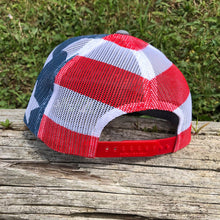 Load image into Gallery viewer, Hat - RTF Stars logo Richardson® (Heather Grey/USA Flag)