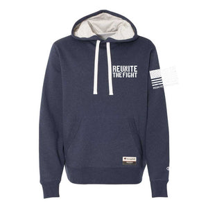 Hoodie - Champion® Originals RTF Logo RWB (Navy Blue)