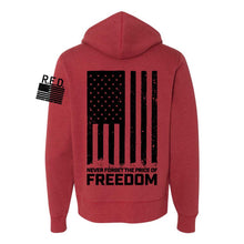 Load image into Gallery viewer, Hoodie - Champion® Originals RTF R.E.D. Never Forget (Red)