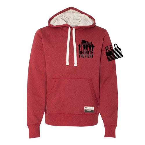 Hoodie - Champion® Originals RTF R.E.D. Never Forget (Red)