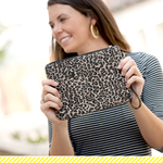 Leopard Everly Wristlet