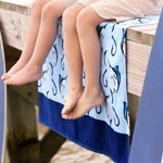 Hooked Personalized Beach Towel