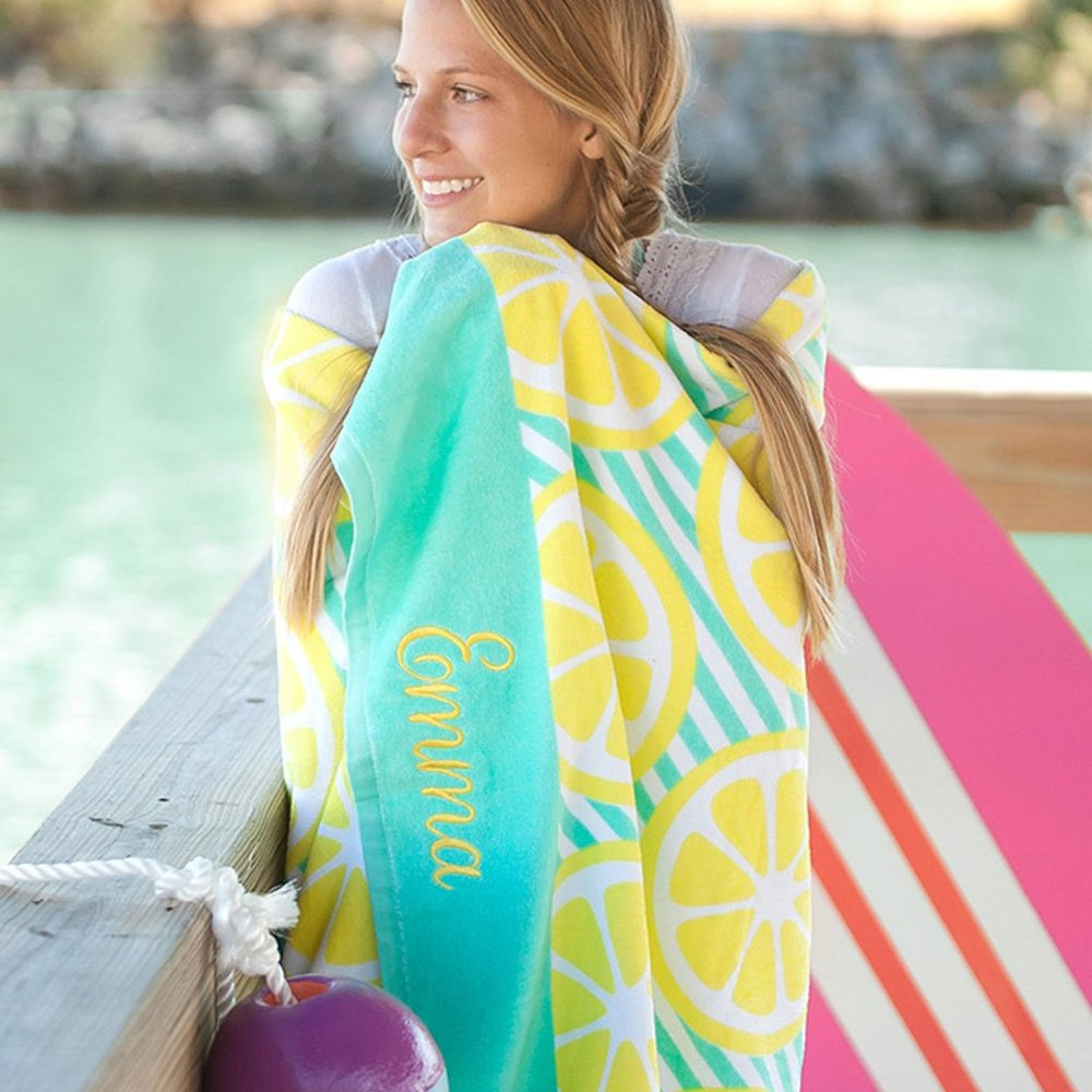 Main Squeeze Personalized Beach Towel