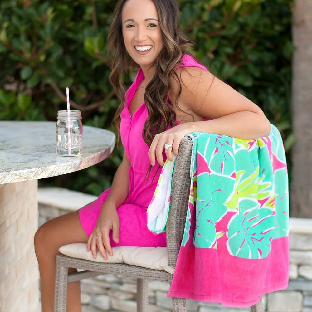 Totally Tropics Personalized Beach Towel