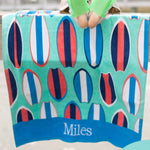 Wave Rider Personalized Beach Towel