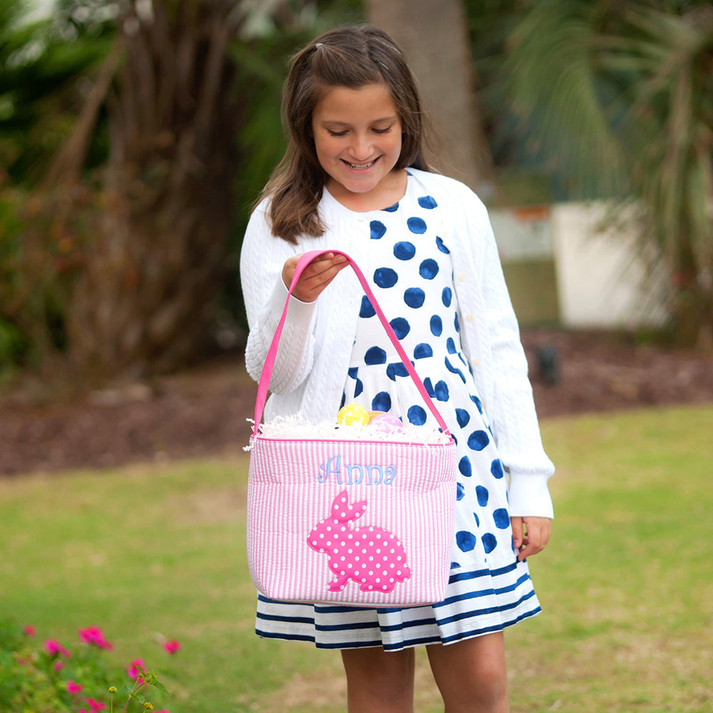 Hot Pink Cotton Tail Easter Bucket