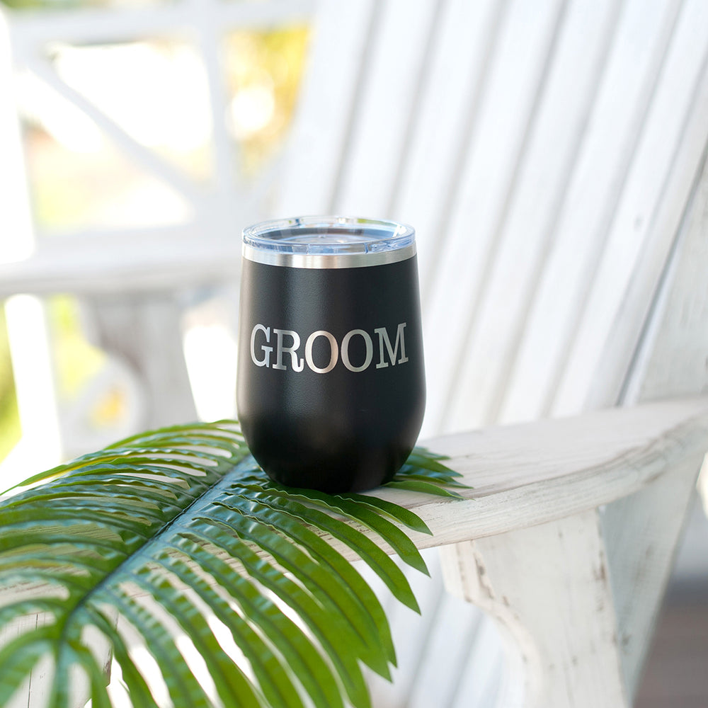 Groom 12oz Tumbler- Black