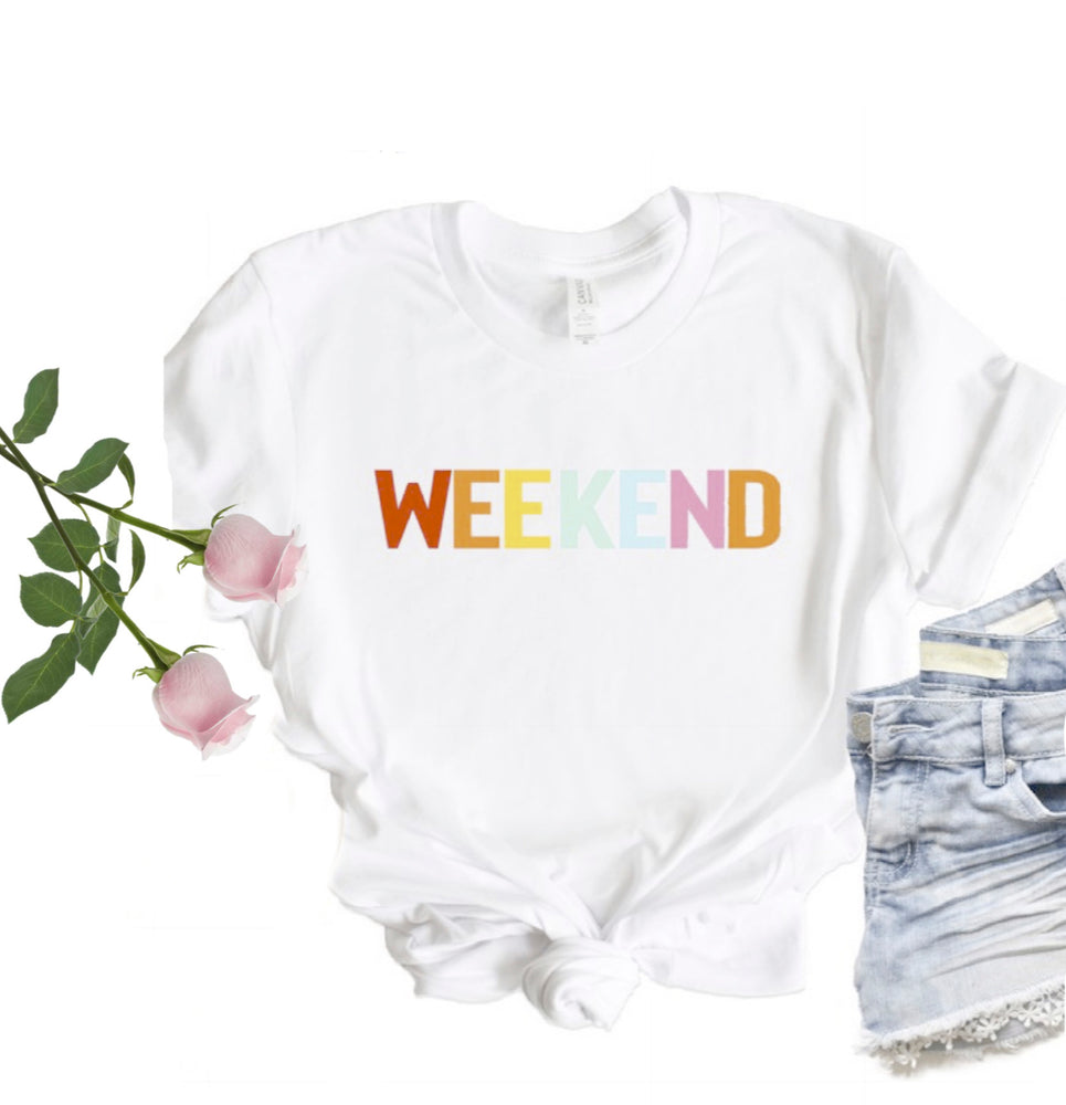 WEEKEND Tee, White