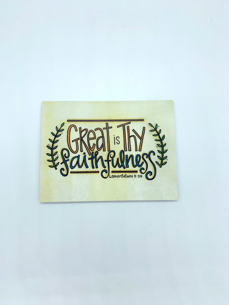 Faithfulness Note Cards