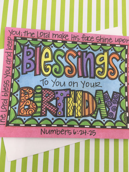 Blessings Birthday Note Cards