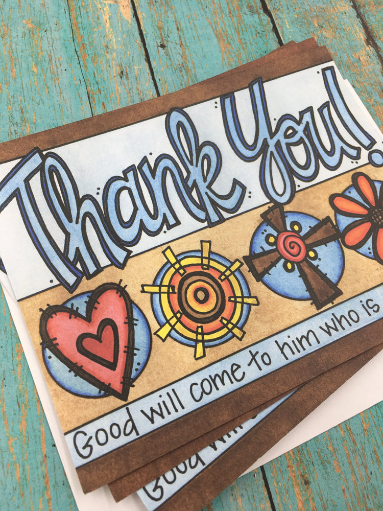 Blue Thank You Note Cards