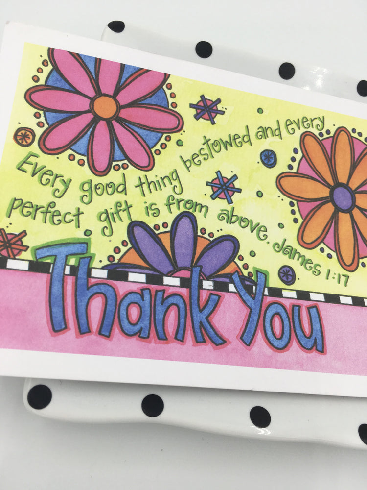 Pink Thank You Note Cards