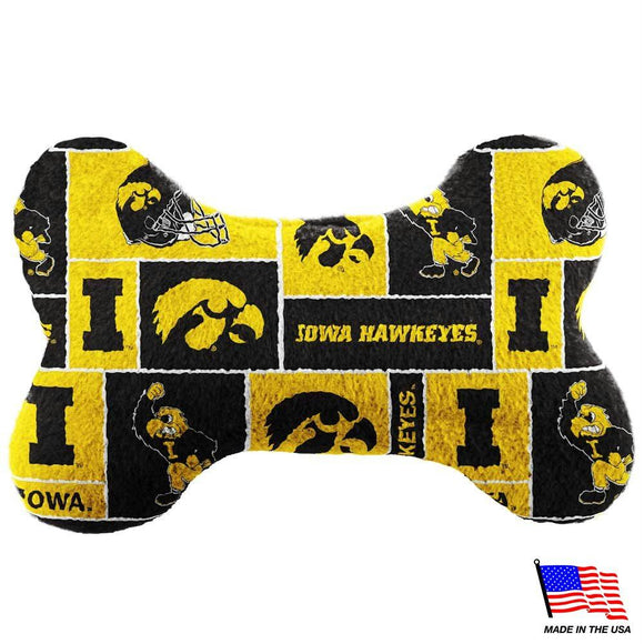 Iowa Hawkeyes Plush Bone Toy