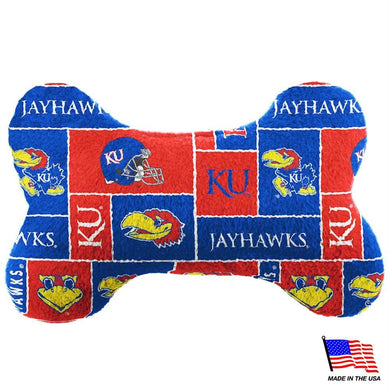 Kansas Jayhawks Plush Bone Toy