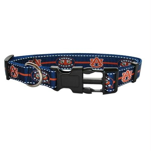 Auburn Tigers Pet Reflective Nylon Collar