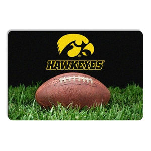 Iowa Hawkeyes Classic Football Pet Bowl Mat
