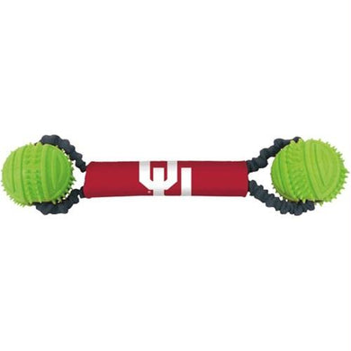 Oklahoma Sooners Double Bungee Tug-N-Toss Toy