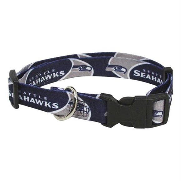 Seattle Seahawks Dog Collar - Large