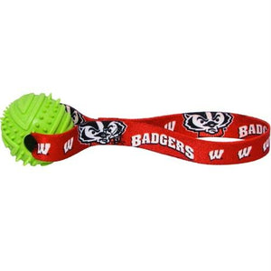 Wisconsin Badgers Rubber Ball Toss Toy