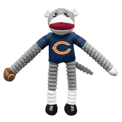 Chicago Bears Sock Monkey Pet Toy