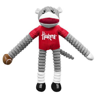Nebraska Huskers Sock Monkey Pet Toy