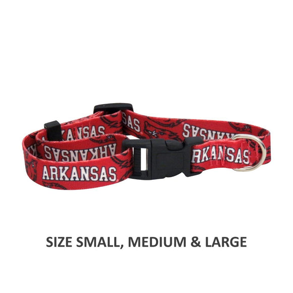 Arkansas Razorbacks Pet Nylon Collar - Large