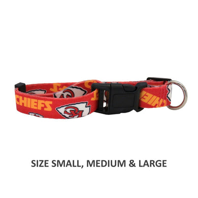 Kansas City Chiefs Pet Nylon Collar - XS