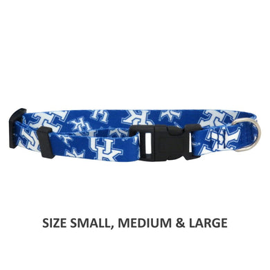 Kentucky Wildcats Pet Nylon Collar - Medium
