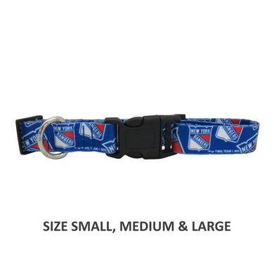 New York Rangers Pet Nylon Collar - Large