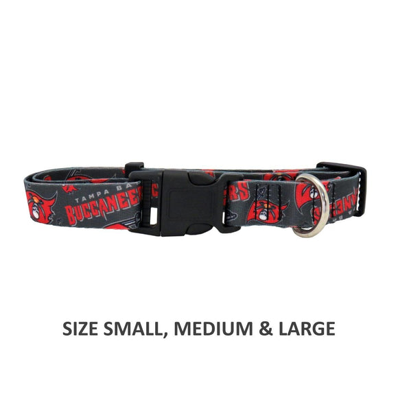 Tampa Bay Buccaneers Pet Nylon Collar - Medium