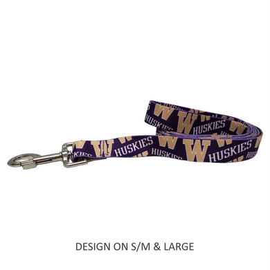 Washington Huskies Pet Nylon Leash - S/M