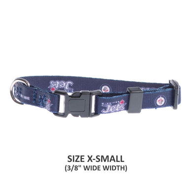 Winnipeg Jets Pet Nylon Collar - Large