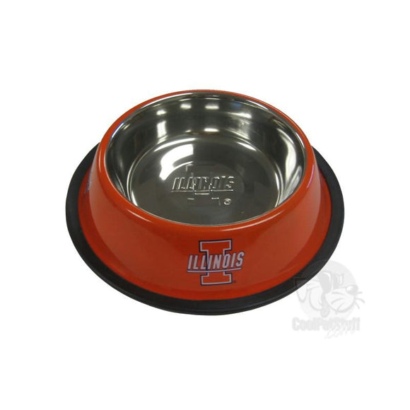 Illinois Fighting Illini Stainless Steel Pet Bowl