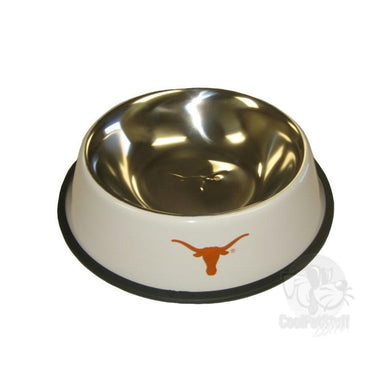 Texas Longhorns Stainless Steel Pet Bowl