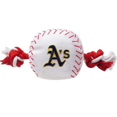 Oakland A's Nylon Baseball Rope Tug Toy