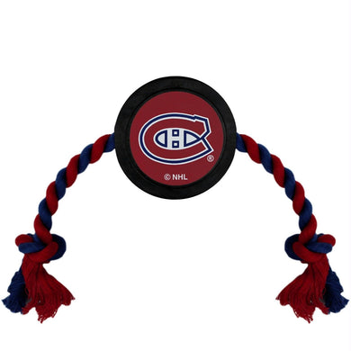 Montreal Canadiens Pet Hockey Puck Rope Toy
