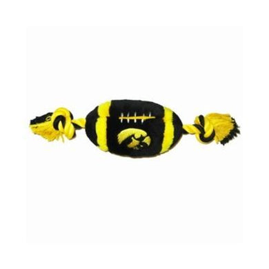 Iowa Hawkeyes Plush Football Dog Toy