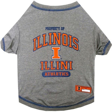Illinois Fighting Illini Pet T-Shirt