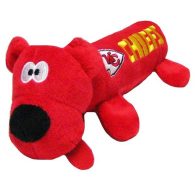 Kansas City Chiefs Plush Tube Pet Toy
