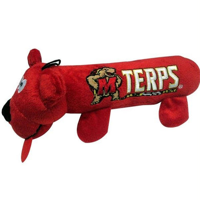 Maryland Terrapins Plush Tube Pet Toy
