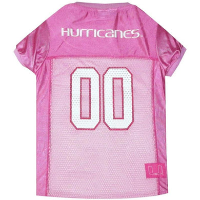 Miami Hurricanes Pink Pet Jersey