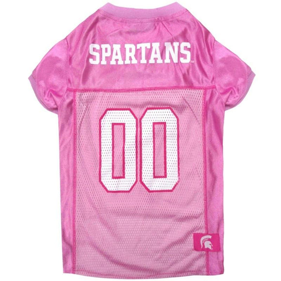 Michigan State Spartans Pink Pet Jersey