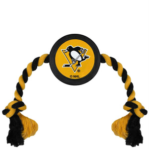 Pittsburgh Penguins Pet Hockey Puck Rope Toy