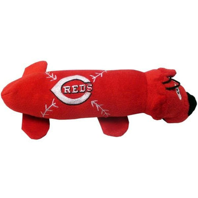 Reds Tube Plush Pet Toy from Cincinnati