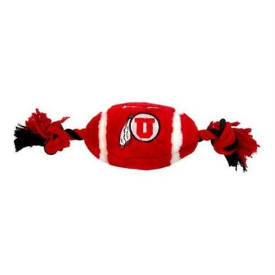 Utah Utes Plush Football Pet Toy