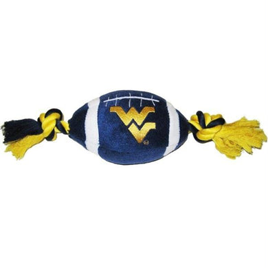 West Virginia Mountaineers Plush Football Pet Toy