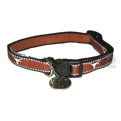 Texas Longhorns Reflective Pet Collar