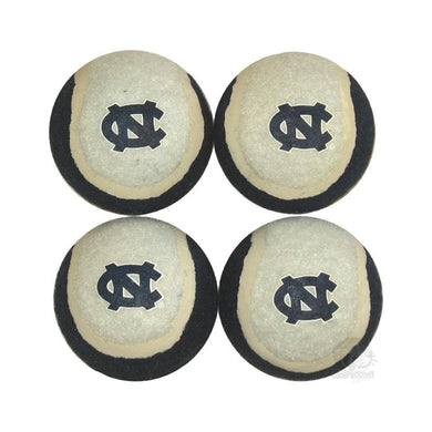 North Carolina Tarheels Tennis Ball 4-Pak